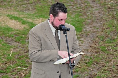 Pastor Tim Drury at FBCB Moreland Road Ground Breaking Ceremony, March 30, 2008
