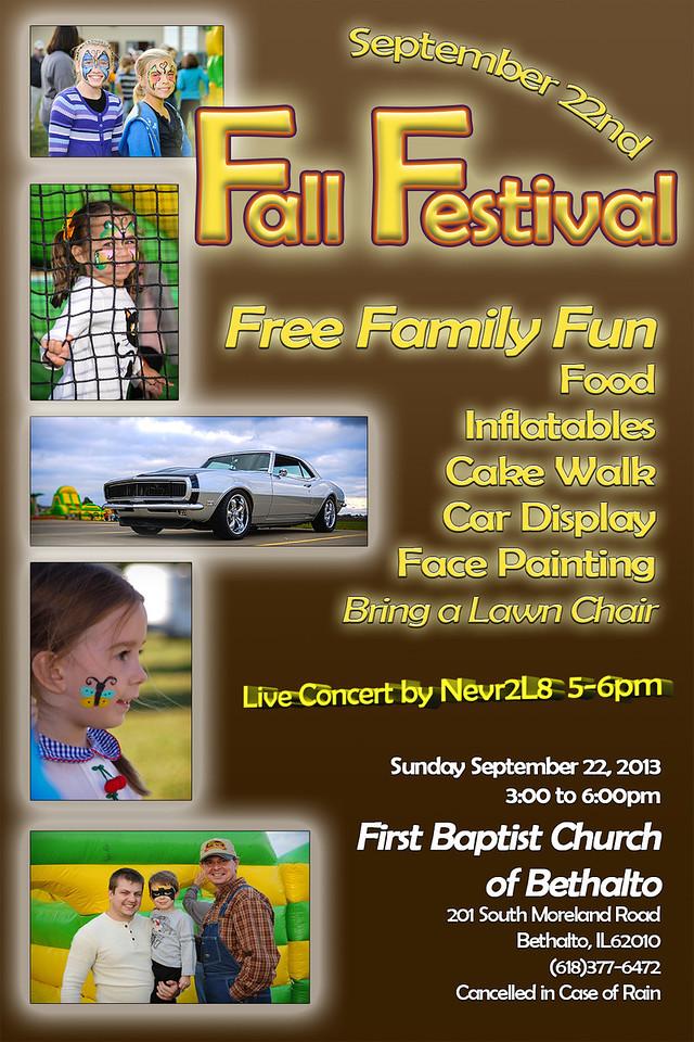 2013 Fall Festival poster