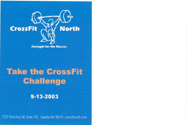 Postcard advertising the CrossFit Seminar and Challenge