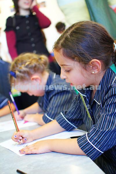 30-1-14. Beth Rivkah Ladies College. First Day of school. photo: Peter Haskin