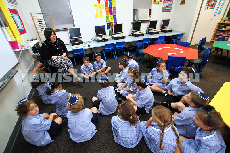 30-1-14. Leibler Yavneh College. First day of school.  Photo: Peter Haskin