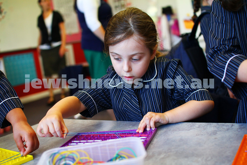 30-1-14. Beth Rivkah Ladies College. First Day of school. photo: Peter Haskin