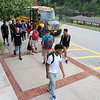 Students make their way into Fitchburg High School on the First day of the 2016-17 school year on September 1, 2016