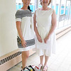 Crocker Elementary School Councilor Jorja Fahy poses for a picture with second grade teacher Patty Marsh who started her 30 year in the Fitchburg Public School system on September 1, 2016. SENTINEL & ENTERPRISE/JOHN LOVE