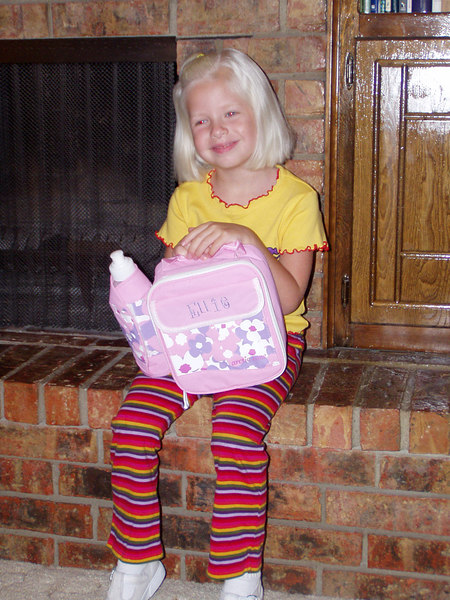 First day of kindergarten (August 15, 2005)