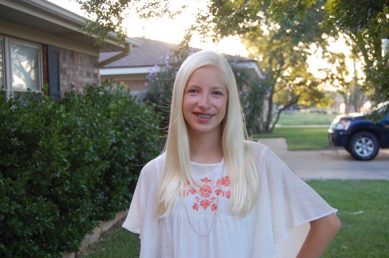 First day, freshman year at Amarillo High (8.25.14)