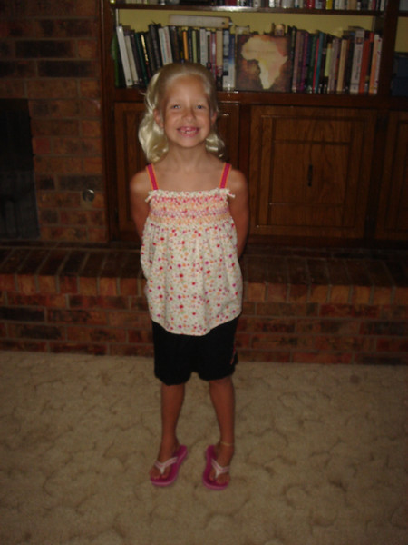 First day of 2nd grade (August 28, 2007).
