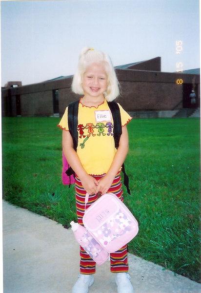 Outside Windsor, first day of kindergarten (August 15, 2005)