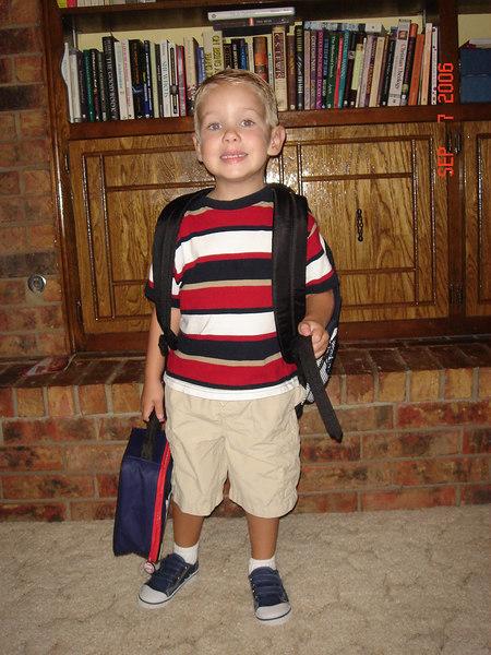 1st day of preschool at Trinity Baptist (September 7, 2006)