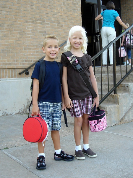 first day of kindergarten at Windsor (8.25.08)