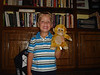 "1st day of Pre-K at Trinity Baptist (September 5, 2007) with monkey, ""Flippy,"" for Show & Tell."