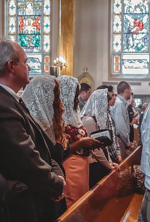 FSSP LatinMass St  Marys profile homily fr  Gismondi pews 2-1