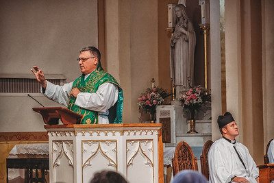 FSSP LatinMass St  Marys profile homily fr  gismondi hands 2-1