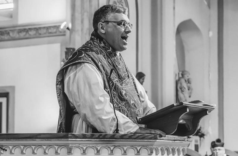 FSSP LatinMass St  Marys profile homily fr  Gismondi b+w-1