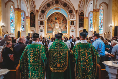 FSSP LatinMass St  Marys 3 priest procession 2-1
