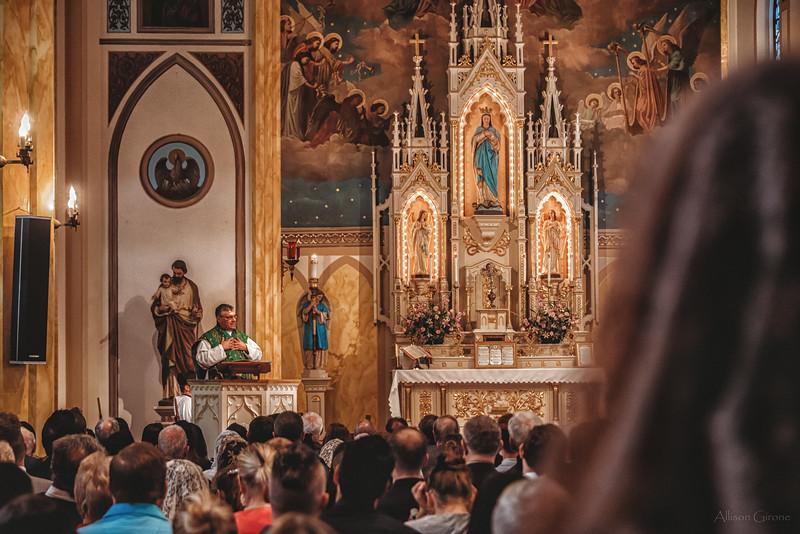 FSSP LatinMass St  Marys profile homily fr  Gismondi 3-1