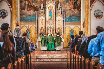 FSSP LatinMass St  Marys 3 priest altar-1