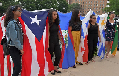 First Friday Participants Meet Miss Latina Contestants