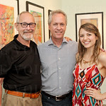 Bob Lockhart, Mayor Greg Fischer and Revelry Gallery Director Molly Huffman.