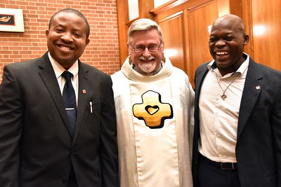 Kenneth and Celsus with the main celebrant, Fr. Ed Zemlik