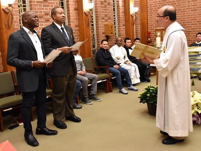 Receiving the postulants