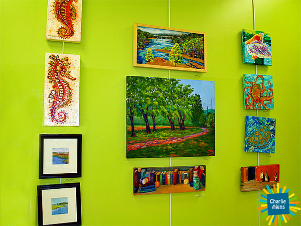 Colorful paintings at the Lynchburg Humane Society