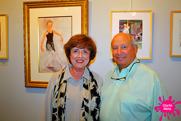 I met this nice couple at the art gallery.