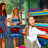 These young ladies enjoyed this painted piano.