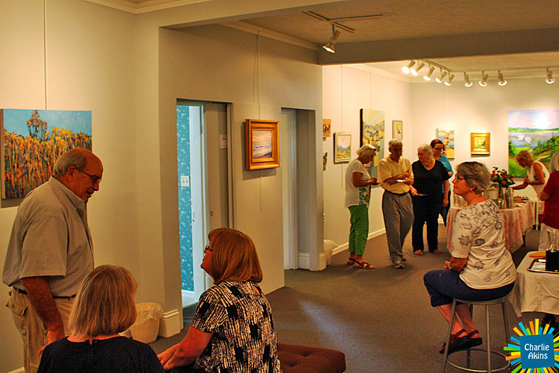Visitors at the Lynchburg Art Club and Gallery