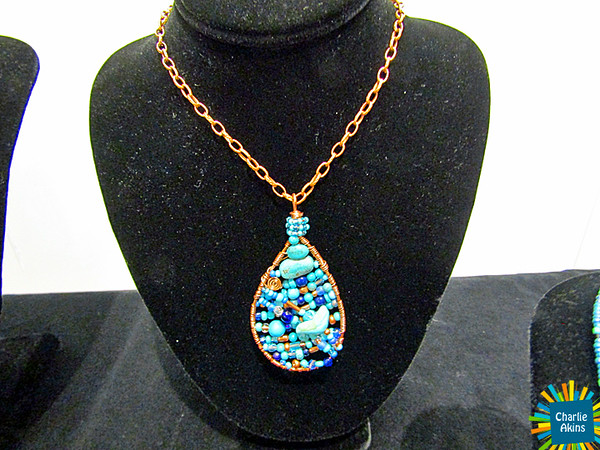 This necklace is a work of art created by Lynell Brown Hilt.
