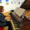 This lady played the piano beautifully at the Academy Center of the Arts.