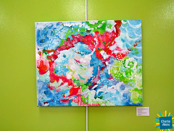 """The Lynchburg Humane Society also has colorful paintings like this one called """"Star Dust"""" by artist Patsy Pollard Wilkinson."""
