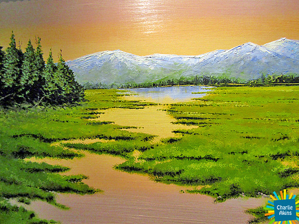 """This painting is called """"Spring Thaw"""" by artist Russell Voelker."""