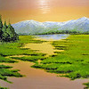 "This painting is called ""Spring Thaw"" by artist Russell Voelker."