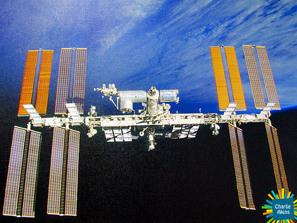 This is another picture of the International Space Station taken by Leland Melvin.