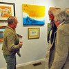 This group is admiring art at the Lynchburg Art Club and Gallery.