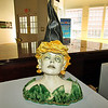 This clay sculpture by Kim Clarke is called Girl with Magic Hat.