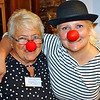 Phyllis and Kim clowning around at Riverviews Artspace