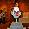 Clown sculpture by John Tobin at Riverviews Artspace