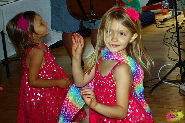 These girls danced to the music