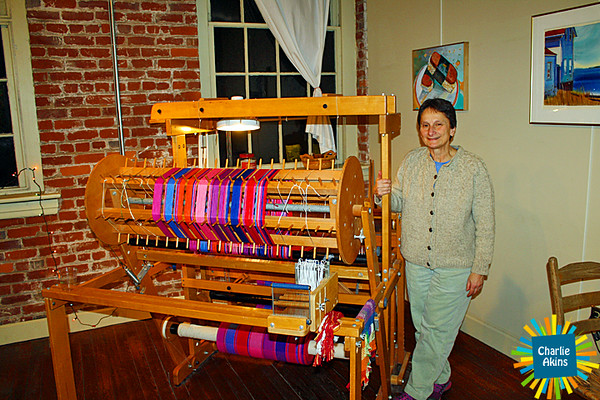 Beautiful handwoven items at Horseshoe Neck Handweavers