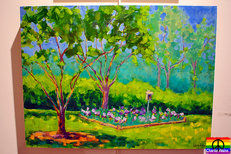 """Irises at the Old City Cemetery"" by Cindy Vener"