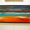 """Ocean Sunrise"" acrylic painting by David Eakin"