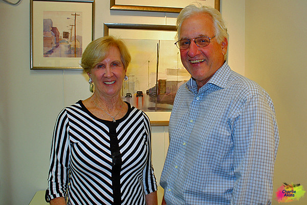 Talented artist George Dawson with his wife, Rosemary