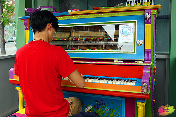 Piano music at Amazement Square