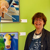 Laren Baum displayed her wonderful art at the Lynchburg Humane Society
