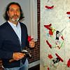 Artist, Edgar Endress, at Riverviews Artspace
