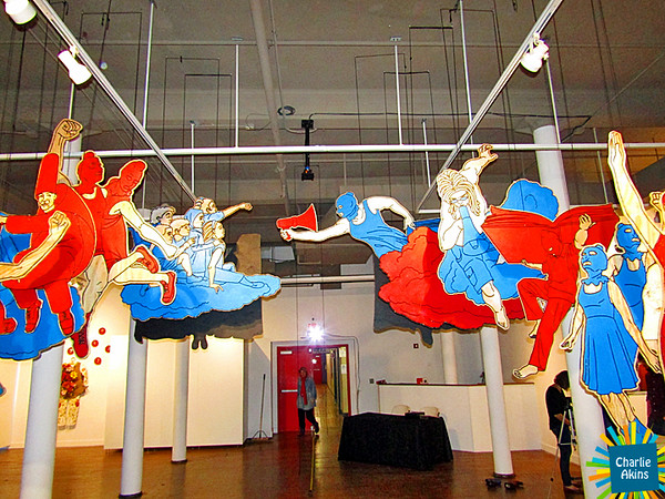 Amazing hanging art at Riverviews Artspace