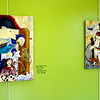 These paintings were featured at the Lynchburg Humane Society.