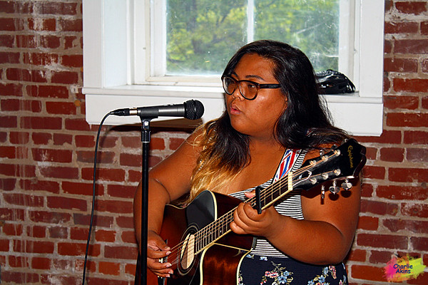 This young lady has a beautiful singing voice.